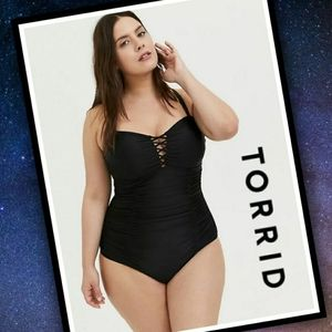 TORRID Convertible Lattice Swimsuit #T103z